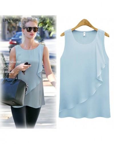 solid desig shirt for women summer workout fashion clothing girl elegant lady shirt wholesale dropship blue green white - Br...
