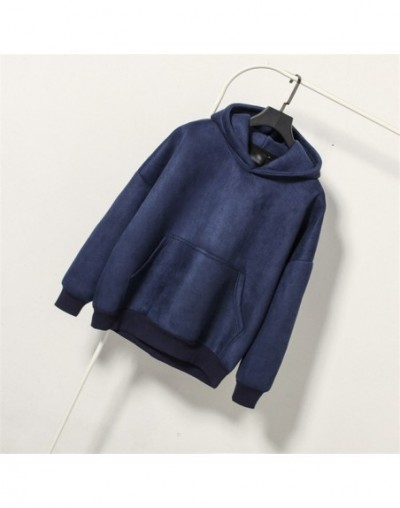 2019 Autumn Suede Velvet Pullover Sweatshirt Women Harajuku Hoodies Moletom Feminino Casual Pocket Tracksuit Hoodie Tops C35...