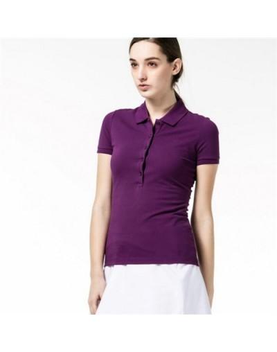 Polo Shirt Women Short Sleeve Summer Cotton Turn Down Collar Luxury Brand Fashion Designer Casual Polo Shirt Slim Fit 2019 T...
