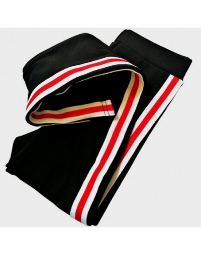 New 2019 Autumn Women Cotton Side Stripe Leggings High Waist Gothic Fitness Leggings Sporting Pants Casual Women's Trousers ...