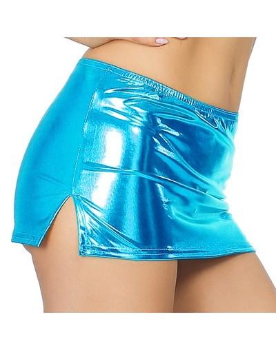 Club Erotic Skirts Low Waist Split Sexy Micro Mini Skirts Faux Patent Leather Skirt Glitter Pole Dance Pencil Tight Miniskir...