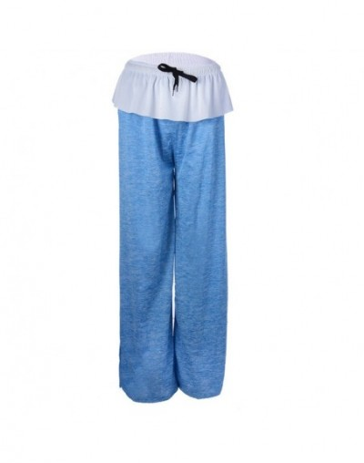 2019 Women Wide Leg Pants Casual Hip Hop Streetwear Loose Straight Trousers Female Patchwork Sweatpants Dropshipping - light...