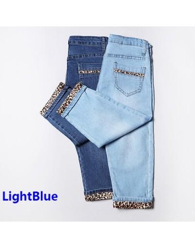 Women Skinny Leopard Capris Jeans Female Ladies Stretch Jeans Capri Knee Length Summer Leopard Print Jeans Woman 2019 - Ligh...