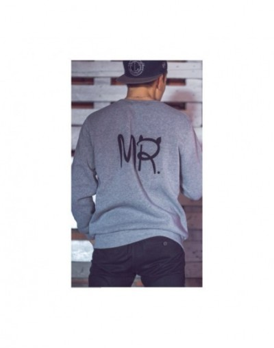 New Fashion MS and MR Letters Lovers Couple Long Sleeve Fleece Shirts Hoodie Sweatershirts Casual Tank Top Sudaderas Mujer 2...