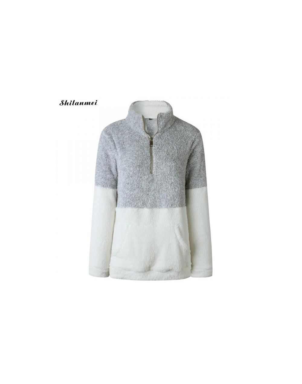 Women's Cozy Oversize Fluffy Woven Sweatshirt Pullover Outwear Turtleneck Women Warm Hoodies Pullover Zip Up Autumn Winter C...