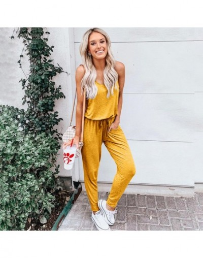 2019 rompers womens jumpsuit summer Europe new five-color short-sleeved bind jumpsuits hot style spot vestidos SJ5198 - YELL...