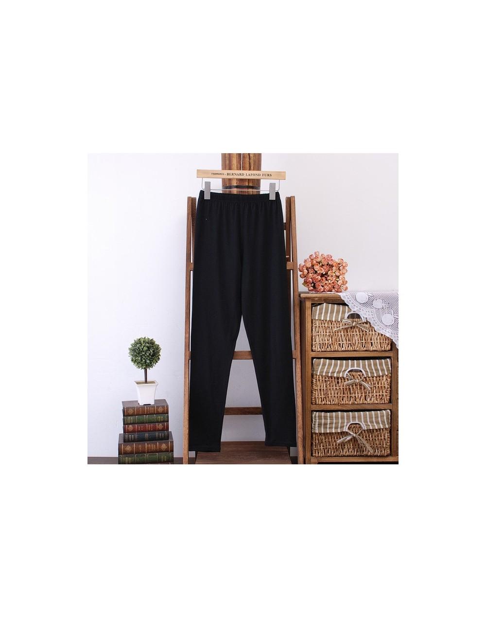Women Leggings Plus Size 3 4 XL Thin Slim Elastic Skinny Bodycon Leggings Black Pink White Blue Green QYL04 - Black - 4X3935...