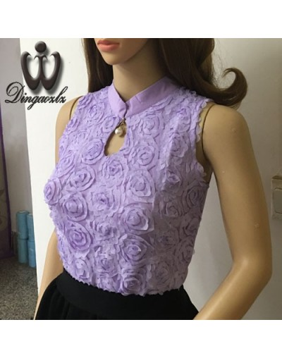 New Plus size Women Chiffon blouse Sexy Flower Beaded lace Tops long sleeved Casual shirt Patchwork Women clothing - Purple ...
