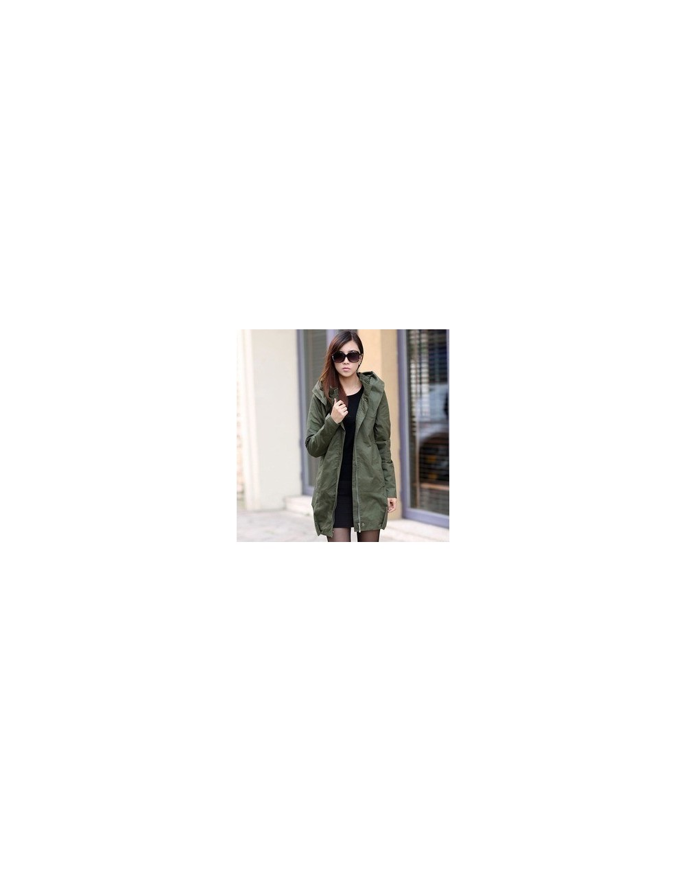 Europe style new 2019 women fashion loose medium long cotton-padded jacket Autumn winter fat mm Trench coat Plus size G341 -...