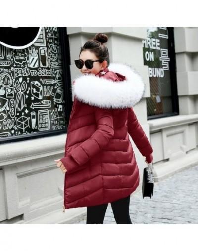 winter jacket women female coat 2019 woman parka long sleeve hood Slim keep Warm Fur collar white manteau femme hiver - Burg...