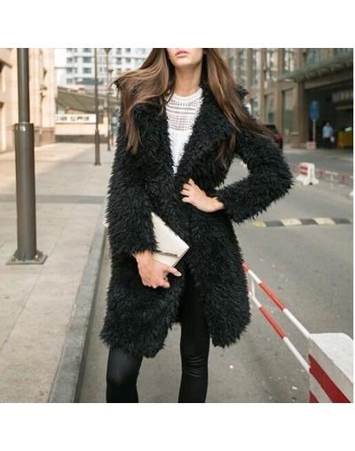 2019 Winter style women long Hairy Lapel Pure 5 color - Black - 5M111155227172-2