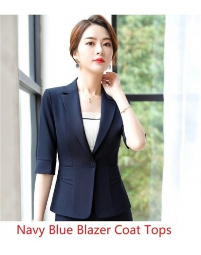 Fashion Red 2019 Spring Summer Blazers and Jackets Coat For Business Women Half Sleeve Work Wear Tops Outwear Female Clothes...