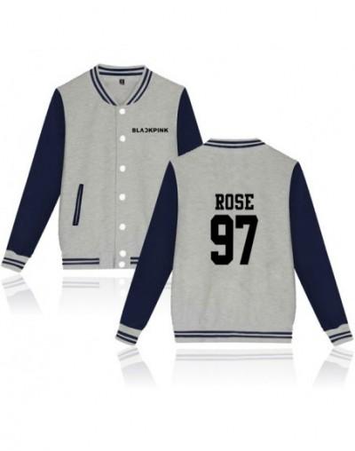 Kpop Blackpink Album Baseball Jacket Women/Men Fans Support Sweatshirt Member Name Print Hoodies Moletom Female 2018 - Gray ...