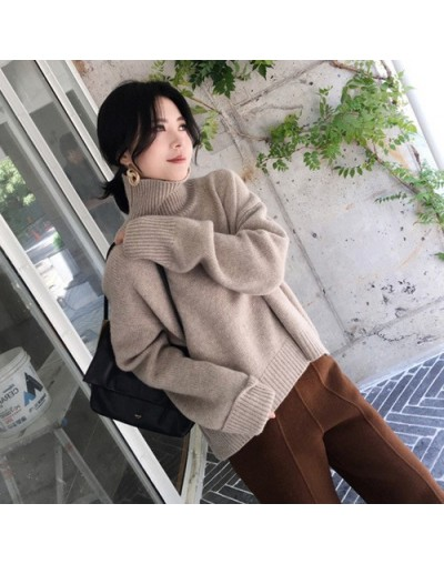 loose Turtleneck Sweater Women 2018 New Autumn Winter Black Tops Women Knitted Pullovers Long Sleeve Jumper Pull Femme Cloth...