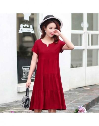 2019 Tops New arrival women summer dress print plus size women casual short sleeve dresses vestido de festa - color 17 - 4Y3...