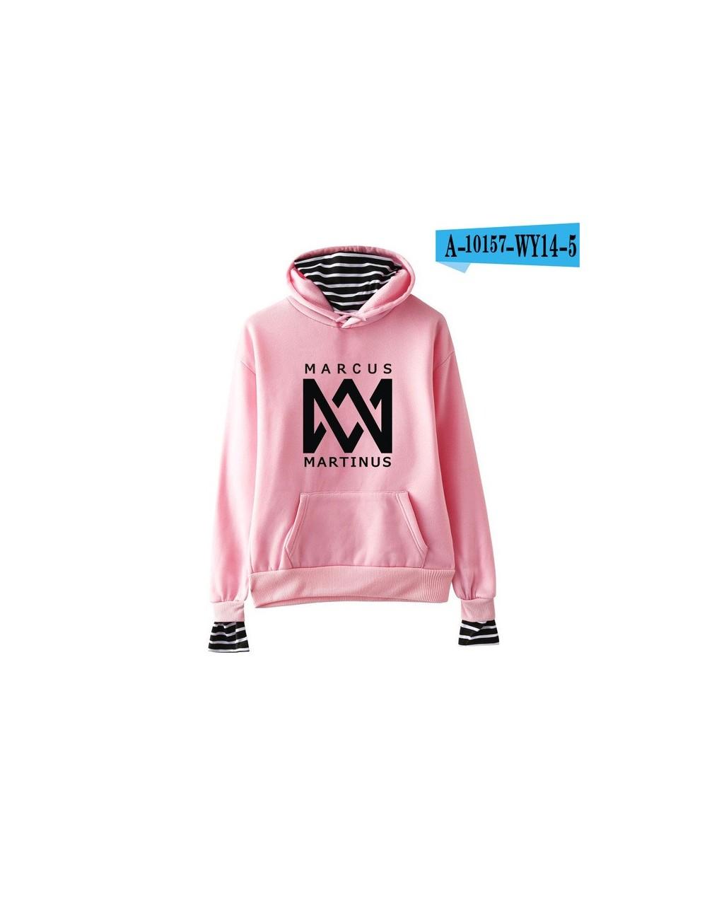 Marcus &martinus Fake two pieces Hoodies Sweatshirt Keep Warm New Style Ouewear Casual Sweatshirt Plus Size - PINK - 4J30557...