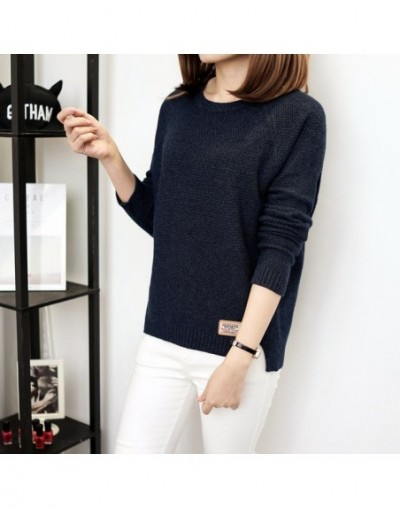 Autumn sweater 2017 Winter women fashion sexy o-neck Casual women sweaters and pullover warm Long sleeve Knitted Sweater - B...