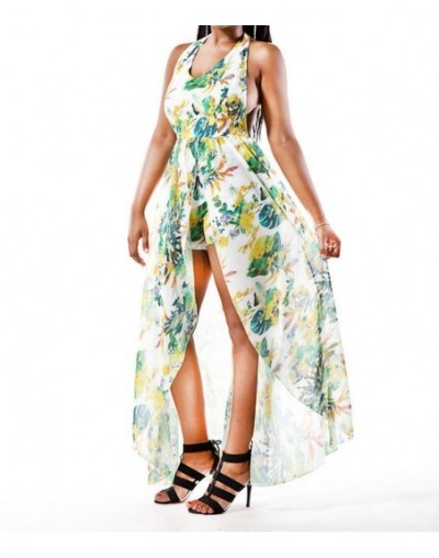 Dropshipping Bohemia National Wind Style Women'S Summer Dress Sexy Ladies Sleeveless Floral Print Maxi Beach Holiday Dresses...