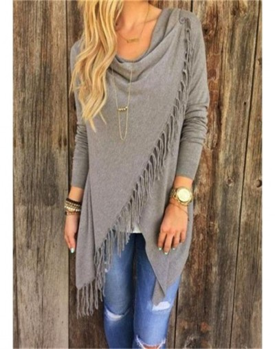 Womens Capes And Ponchoes 2016 Autumn Winter Women Fashion Candy Colors Tassel Pullovers Plus Size Women Knitted Sweater A12...