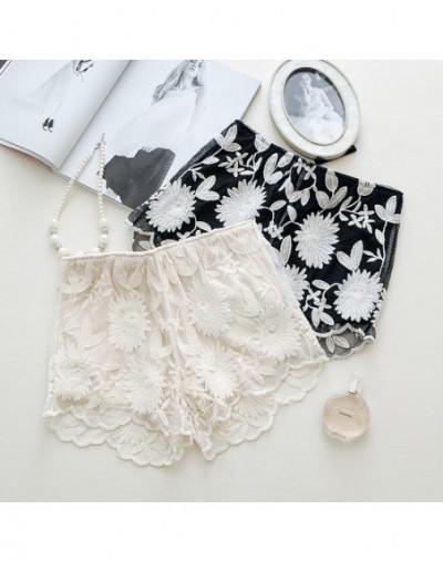Summer Plus Size Crochet Lace Chiffon Fabric Shorts Women Elastic Waisted Micro Style Flower Mini Short Mujer Beach Hotpants...