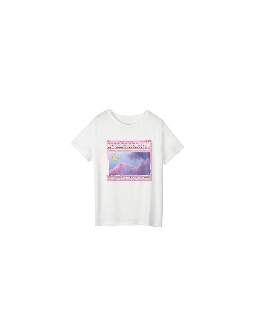 Sailor Moon Summer New Fashion T Shirt Women Harajuku Short Sleeve Fun Ulzzang T-Shirt Cute Cat Tshirt Cartoon Top Tees Fema...