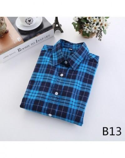 2018 Spring New Brand Women Blouses Long Sleeve Cotton Flannel Plaid Shirts Women Casual Plus Size Shirt Blusas Feminina 20C...