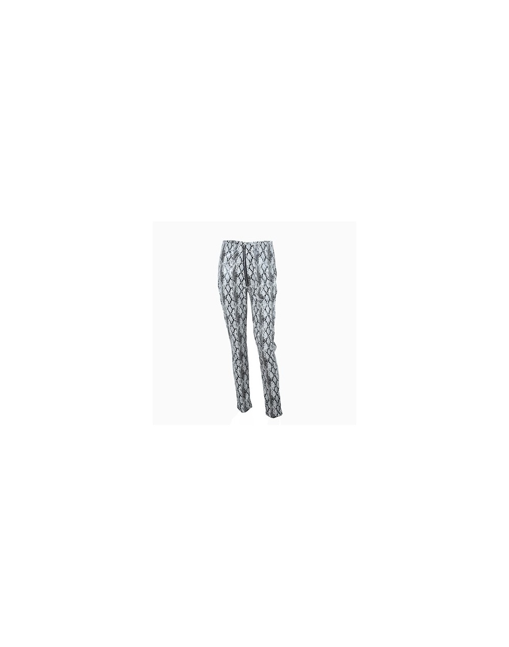 Zipper Snake Print Pants Women PU Leather Pants High Waist Pencil Trousers Skinny Pantalon Femme Streetwear 2019 New Gray - ...