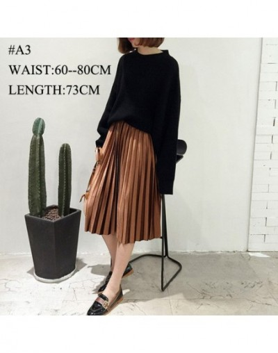 Women Skirts High Quality Spring Autumn Summer Style Women's Pleated Length Skirt Hot Fashion Thick Breathble - Brown (Velve...