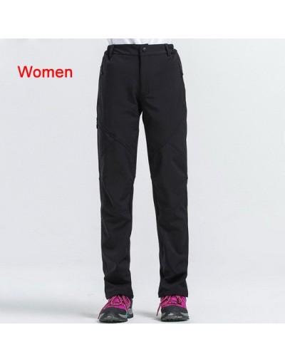 Women Pants Winter Waterproof Trousers Female Stretch Palazzo Pantalon Women's Softshell Pants Black Sweatpants AW199 - blac...