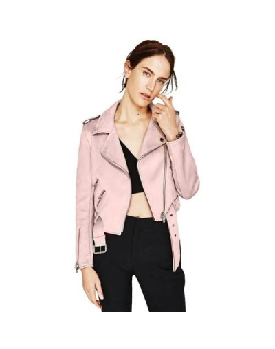 Autumn Spring PU Faux Leather Women Jacket Tops Solid Basic Suede Jackets Ladies Basic Female Coat Short Motorcycle Streetwe...