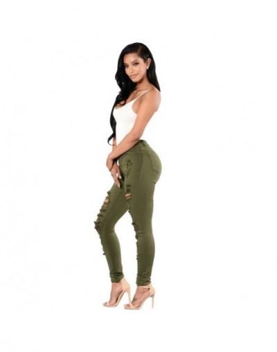 Plus Size Skinny Elastic Ripped Jeans Women High Waist Denim Pencil Pants Ladies Streetwear Trousers Jeans Mujer Femme - Arm...