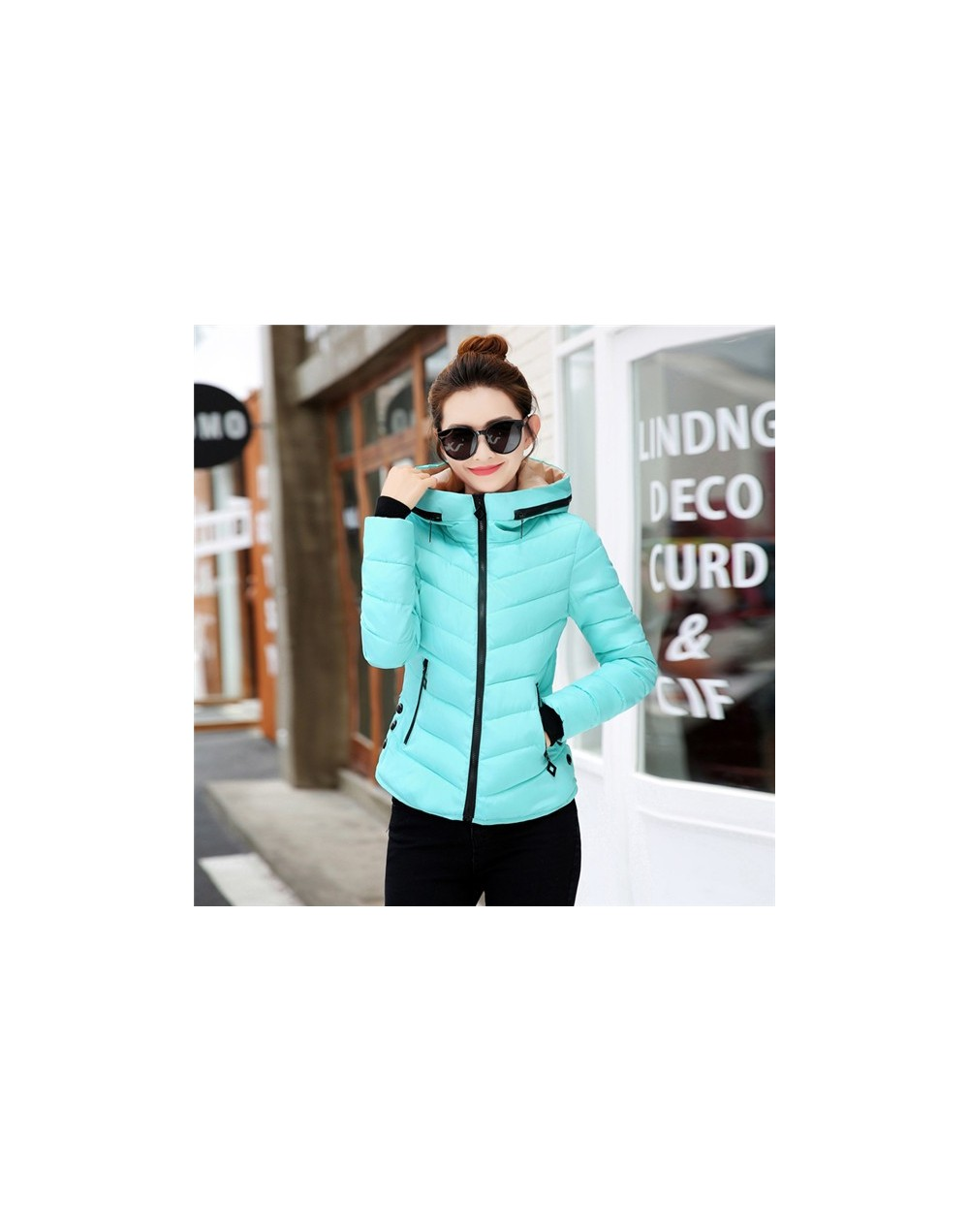 Winter Parka Women Coats New Fashion Hooded Short Outerwear Down Cotton Jacket Slim Large Size Girls Student Cotton Clothes ...