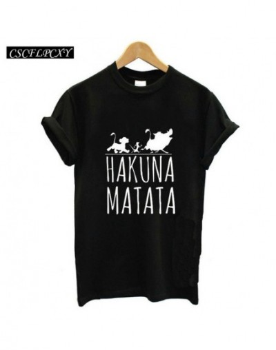 2017 Hakuna Matata lettera della stampa Tee shirt Homme Donne di Estate t shirt A Manica corta Plus Size women casual - 11 -...