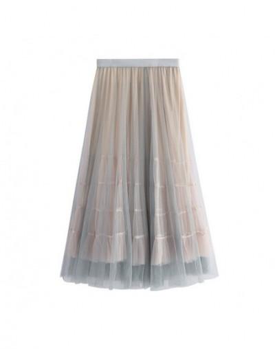 Women Mesh Skirts Elastic High Waist Ball Gown Long Skirt Casual Summer tutu skirt faldas mujer Korean Style harajuku skirt ...