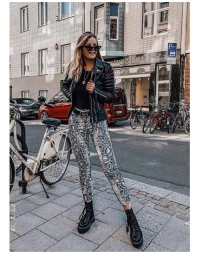 Womens Ladies Summer Python Snake Print High Waist Stretchy Leggings Slim Pants - Multi - 4E3074339828