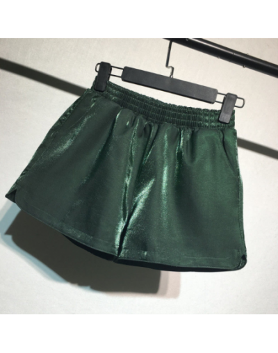 2019 Plus Size Summer Casual Women Shorts Korean Young Lady High Waist Female Shorts - Green - 5D111186337275-4