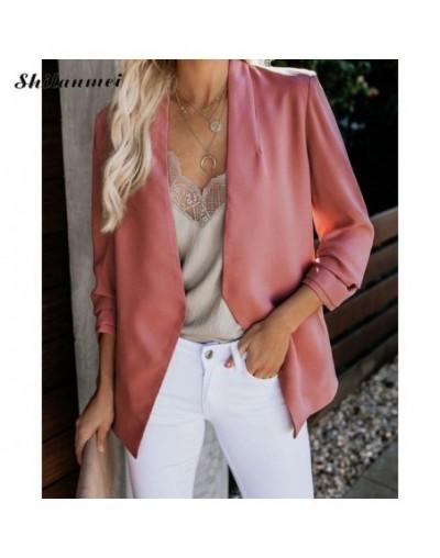2019 Women Blazer Autumn Business Coat Formal Slim Jacket Work Office Ladies Suit Long Sleeve Plus Size Outerwear Coats 5XL ...