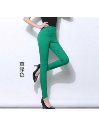 Elastic High Waist Women Pencil Pants Plus Size 5XL 6XL Large Leggings Female Candy Color 2018 Trousers Femme Pantalon - cao...