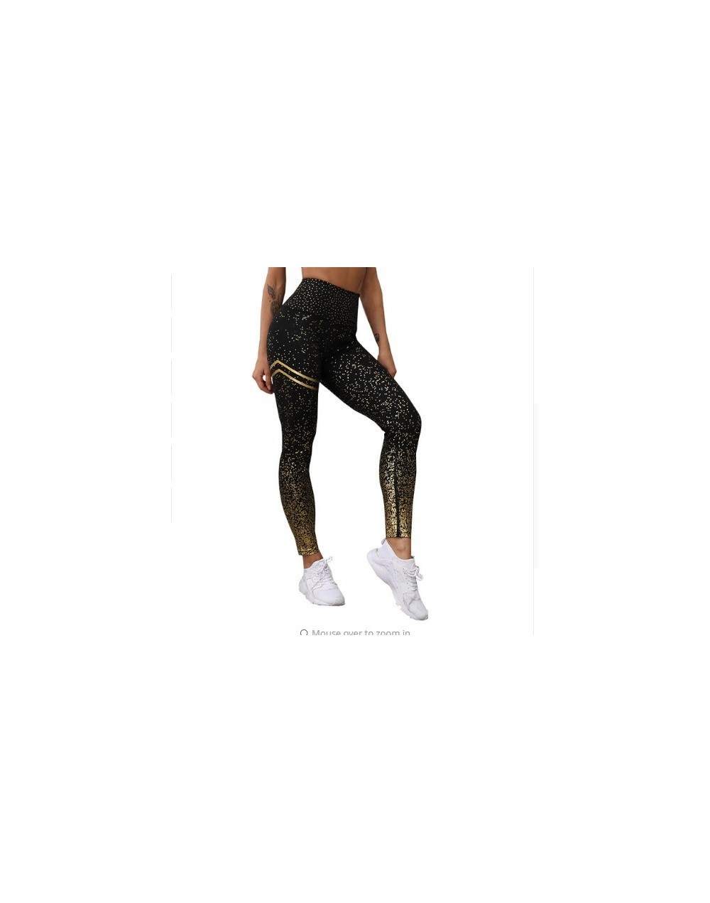 VIP leggings for Dropshipping customer - black with gold - 4N3094537639-3