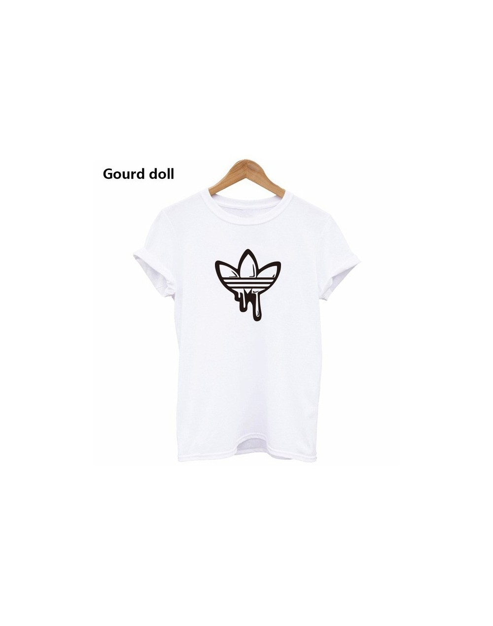hot AD Printing Women's T shirt Casual Round neck European and American tide black white short t shirt woman tee shirts red ...