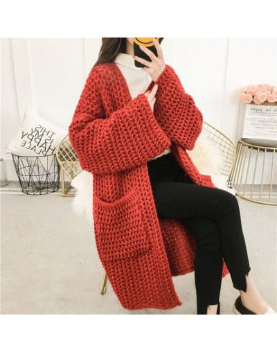 2019 New Spring Autumn Sweater Women Plus Size Loose Korean Fashion Long-sleeves Cardigan Knitted Sweater Long Coat Female -...
