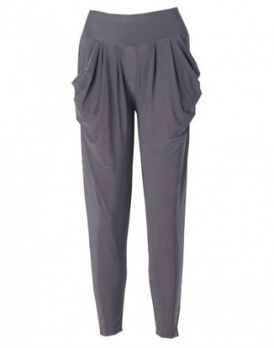 Candy Color Ladies Fashion Slim Casual Harem Baggy Dance Sweat Pants Trousers - Gray - 473978290591-4