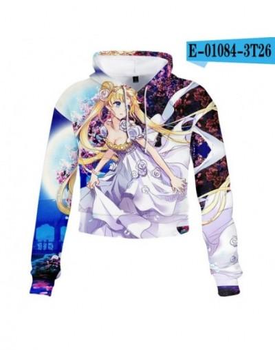 Sailor Moon Women Sweatshirt 2019 Sexy Hoodies Tie Dye Crop Hoodie Long Sleeve Jumper Hooded Pullover Coat Casual Sweatshirt...