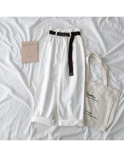 Spring Summer High Waist Cargo Pants Pantalon Femme Streetwear Solid Loose Cotton Trouser Korean Women Jogges Sweatpants - w...