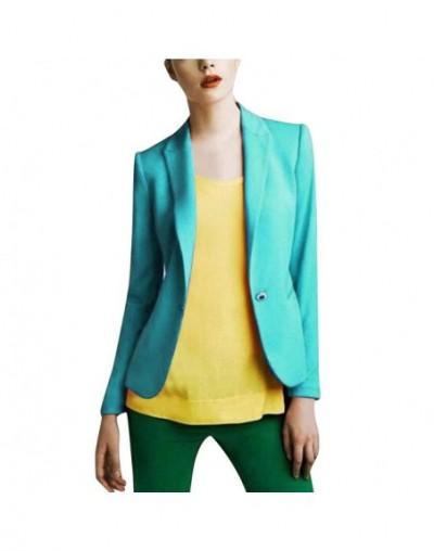 New Fashion Women Ladies Suit Coat Business Blazer Women's Casual Solid Color Long-Sleeved Button Slim Cardigan Blazer Coat ...