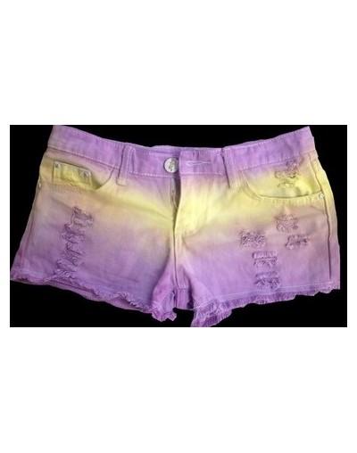new summer 2019 for Women vintage low waist shorts jeans tie dye Ripped Hole short jeans denim female distress cutoffs short...