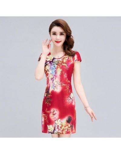 Women Dress 2019 Fashion Clothes Casual Plus Size Slim Tunic Milk Silk Print Floral Dresses Sexy Bodycon Sundress Vestidos 4...