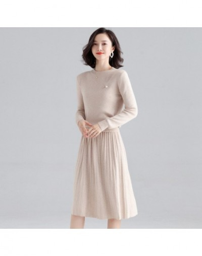 Net red skirt suit early autumn new arrival women's fashion long-sleeved knitted pleated skirt suit knit women's set F9972 -...