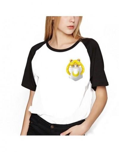 Sailor Moon Shirt Clothes Tops Women Kawaii T-shirts Harajuku Sailor Moon Cat Tshirt Short Sleeve Plus Size Tee Shirt Femme ...