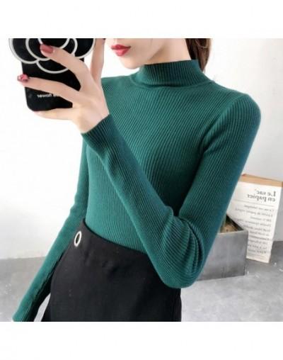 2019 Autumn Winter Women Pullovers Sweater Knitted Korean Elasticity Casual Jumper Fashion Slim Turtleneck Warm Female Sweat...